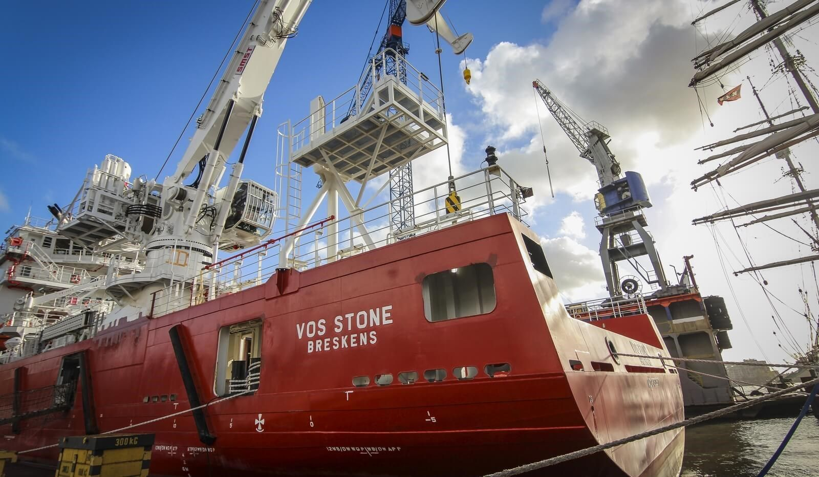 Subsea support walk-to-work vessel VOS Stone - Romcrew